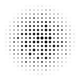 Rastrerade cirklar, rastrerad prickmodell Monokromt raster stock illustrationer