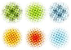 rastrerade färgrika prickar stock illustrationer