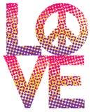 Rastrerade LOVE=Peace Arkivbilder