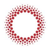 Rastrerade prickar för vektorcirkelram Arkivbild
