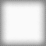 Rastrerade prickar Monokrom vektortexturbakgrund för prepress, DTP, komiker, affisch Mall för stil för popkonst royaltyfri illustrationer