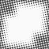 Rastrerade prickar Monokrom vektortexturbakgrund för prepress, DTP, komiker, affisch Mall för stil för popkonst stock illustrationer