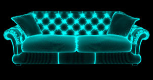 Rastret av en soffa Royaltyfri Fotografi