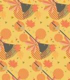 Rastrillo con las hojas caidas stock de ilustración