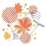 Rastrillo con las hojas caidas libre illustration