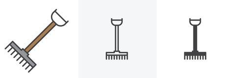 Rastrillo, cultivando el icono de la herramienta libre illustration