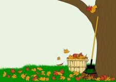 Rastrillo de las hojas ilustración del vector