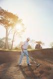 Rastrillo del buker del golf Imagen de archivo libre de regalías