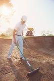 Rastrillo del buker del golf Imagenes de archivo