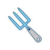 Rastrillo que cultiva un huerto, ejemplo del vector de la herramienta libre illustration