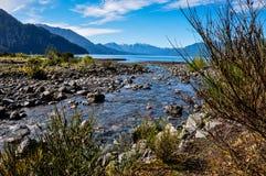 Rastro alrededor de Lago Todos Los Santos, Chile Foto de archivo