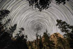 Rastro Bryce Canyon interior de la estrella Fotos de archivo libres de regalías