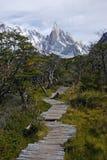 Rastro a Cerro Torre Imagenes de archivo