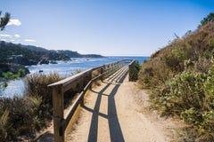 Rastro costero en reserva natural del estado de Lobos del punto Foto de archivo