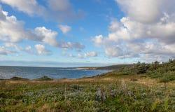Rastro costero Rocky Harbour foto de archivo libre de regalías