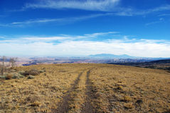 Rastro de alta montaña con una visión, Utah Imagen de archivo libre de regalías