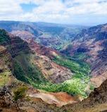 Rastro de Halemanu, barranco de Waimea, Kauai, Hawaii, los E.E.U.U. Foto de archivo