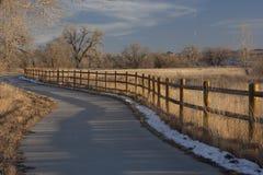 Rastro de la bici en Colorado cerca de Greeley Fotografía de archivo libre de regalías