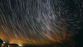 Rastro de la estrella almacen de metraje de vídeo