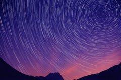 Rastro de la estrella en Abruzos Imagen de archivo libre de regalías