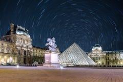Rastro de la estrella en el Louvre Foto de archivo
