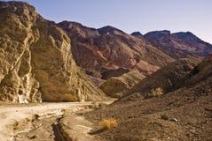 Rastro de la gama de colores del artista - Death Valley Fotos de archivo