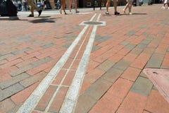 Rastro de la libertad, Boston foto de archivo