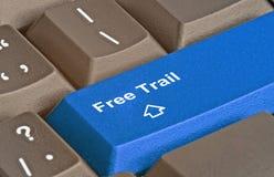 Rastro de la llave gratis Fotos de archivo