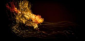 Rastro de la luz del fuego artificial fotografía de archivo
