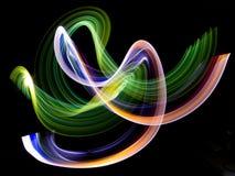 Rastro de la luz en la oscuridad Imagen de archivo