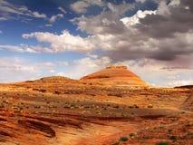 Rastro de la puesta del sol del paisaje del desierto, Arizona Imagen de archivo