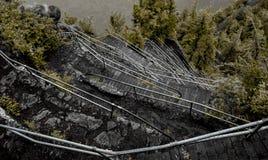 Rastro de la roca del faro imagen de archivo libre de regalías