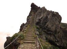 Rastro de la trayectoria en la isla de Madeira Imagen de archivo