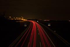 Rastro de las luces del coche Foto de archivo libre de regalías