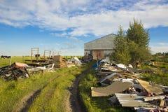 Rastro de los desperdicios o de los coleccionables Fotografía de archivo