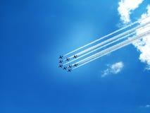 Rastro de los jets Foto de archivo libre de regalías