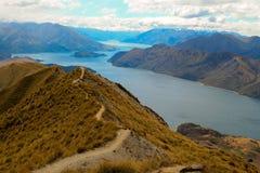 Rastro de montaña de Wanaka del lago Fotografía de archivo