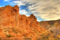 Rastro de montaña del desierto imagenes de archivo
