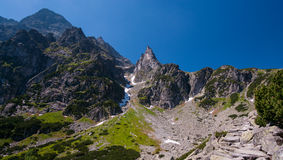 Rastro de montaña en el monje Peak Imagenes de archivo