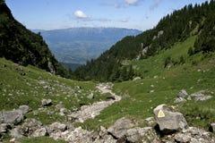 Rastro de montaña marcado Imagenes de archivo