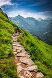Rastro de montañas en Tatras en el día soleado Fotografía de archivo libre de regalías