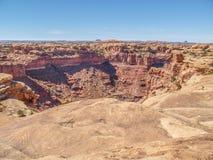 Rastro de Slickrock en el parque nacional de Canyonlands imagen de archivo