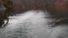 Rastro de un barco flotante, cámara lenta metrajes
