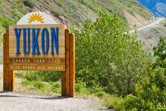 Rastro de Yukon Fotografía de archivo