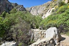Rastro del barranco de Tahquitz Fotografía de archivo