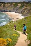 Rastro del caminante Imagen de archivo