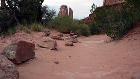 Rastro del desierto de los arcos vacío almacen de metraje de vídeo