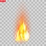 Rastro del fuego Efecto especial de los elementos translúcidos ardientes de las llamas El fuego ardiente realista flamea efecto d ilustración del vector
