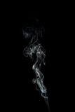 Rastro del humo aislado en negro Imágenes de archivo libres de regalías