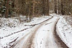 Rastro del invierno Fotografía de archivo